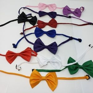 Other - Formal Solid Banded Bow Tie SOLD IN SETS OF 3